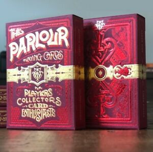 The Parlour Red Playing Cards Poker Size Deck Cartamundi Custom Limited Sealed