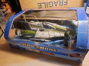 Star Wars Saga 2003 Green A-wing Fighter Misb Hasbro