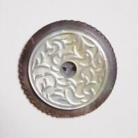 Bouton ancien - Nacre - 31 mm - colonial MOP Button +1-1/8