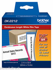 "Brother DK2212 2-3/7"" Continuous White Film for QL550, QL-550 label printers"