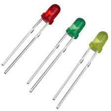 75 x 3mm Diodos Emisores de Luz LED Rojo Verde Amarillo Colores Surtidos Y8B7