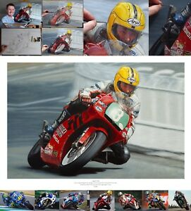 Joey Dunlop 2000 Honda RS250 Isle of Man TT oil painting fine art print