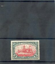 GERMAN SOUTH WEST AFRICA Sc 34(MI 32Ab)**VF NH M1906 5MK SL & CARM 26:17 $250