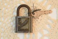 Antique Vintage Slaymaker Rustless Door Padlock Lock W/ Key