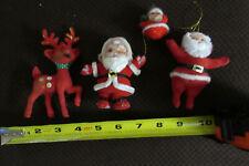 Vintage Santa (3pc) Reindeer (1pc)Christmas decorations