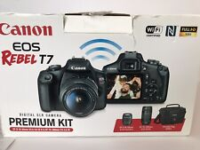 Canon EOS Rebel T7 DSLR Camera Premium Kit with 18-55mm and 75-300mm Lenses