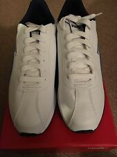 Men's Puma White/Blue Turin Sneakers Size 9.5 Very Nice!!!