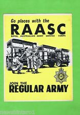 #T37.  RAASC  AUSTRALIAN MILITARY RECRUITMENT CARDBOARD DISPLAY
