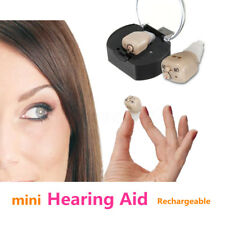 Mini Hearing Aid ITE Best Sound Amplifier Adjustable Tone Stealth Invisible OP