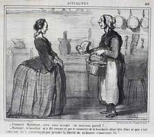 Honore Daumier France 1808-1879 Lithograph Actualites No 463
