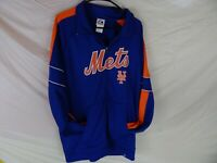 New York Mets Size XL Full Length Zip Up Jogging Jacket by Majestic