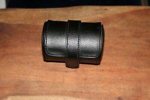 WOLF Blake Jewelry & Watch Roll Leather Black