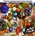 Lampwork Beads, 2 LB Bulk, Mixed Style & Colors, Handmade Glass