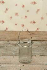 Hanging Jar T Light Tea Light Holder Clear Glass Vintage Style