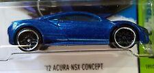 Hot Wheels 2015 HW Workshop '12 Acura NSX Concept Blue 2012 1:64