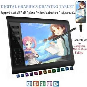 """Digital Graphics Drawing Tablet Artist Board Pad W/ 8192 Pen Pressure 10x6"""" AU"""