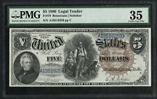 FR78 $5 1880 L.T. LRG BROWN SEAL (41 RECORDED) EXT RARE PMG 35 CHOICE VF WLM5105