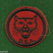 VINTAGE  BOY SCOUT PATROL RED & BLACK PATCH - WILDCAT - FREE SHIPPING   XX