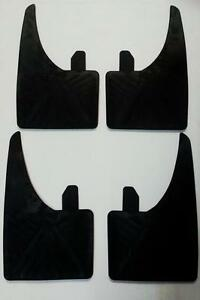 UNIVERSAL FIT CAR VAN MUDFLAP RUBBER BLACK MUDFLAPS DIRT SPRAY FLAP 1 SET OF 4