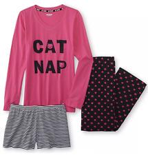 NEW Joe Boxer 3 Piece Women PLUS Pajamas Set SIZE 2X - Cat Nap Shirt Pant Shorts