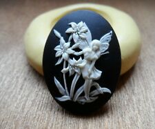 Little Fairy cameo silicone push mold mould  resin sugar craft polymer clay USA
