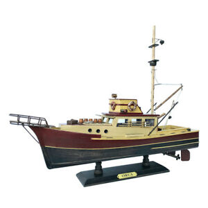 """Ships Early September- """"Jaws"""" - """"Orca"""" Model Fishing Boat Wooden 19"""""""