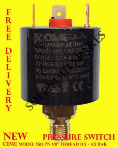 """PRESSURE SWITCH ceme 5611 PN 1/8"""" thread 0.5 - 4.5 BAR for air water steam"""