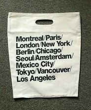 RARE Vintage American Apparel Thick Heavy Cotton Canvas TOTE Style Cities Bag