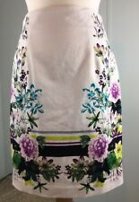 Worthington Women's  White Floral Pencil Skirt  Size 8