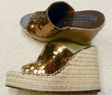 Marc By Marc Jacobs Bronze Wedge Sandals Size 8 US 38