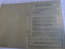 INFORME DE ÉPOCA 1962 NSU Fiat 103G NECKAR 48 PS weinsberg Hoja de datos LE
