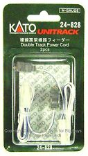 Kato 24828 N UNITRACK DOUBLE TRACK POWER CORD (2) Viaduct Wires Trains New I