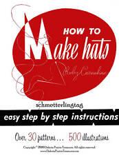 Millinery Book RETRO Hat Making Instructions Make Hats 30 1966 Patterns DIY Glam