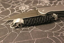550 Paracord knife lanyard with pewter skull beads Busse d2 zt. 007