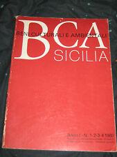 BCA SICILIA  BENI CULTURALI E AMBIENTALI ANNO I N. 1-2-3-4 1980