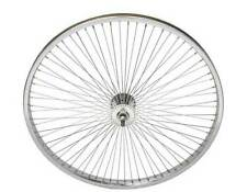 "LOW RIDER LOWRIDER BIKE BICYCLE 24"" 72 Spoke Front Wheel 14G Chrome"