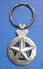Western Cowboy Jewelry Antique Silver Raised Star Concho Key Ring Kit