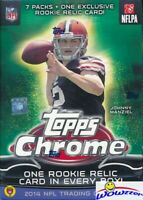 2014 Topps Chrome Football EXCLUSIVE Factory Sealed Blaster Box-RELIC CARD!