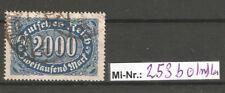 Deutsches Reich Mi-Nr.: 253 b sauber gestempelter Wert geprüft  Infla