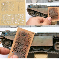 Decoration DIY Weathering Airbrush Stencils Tools for 1/35 1/48 1/72 Scale Model