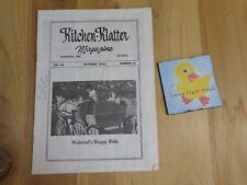 KITCHEN KLATTER Magazine OCTOBER 1985 Old Family Pump Perky Puppets