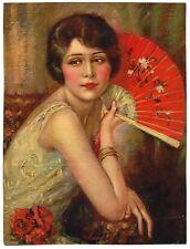 "Rosalie 1930s Glamour Girl art deco print 8"" x 10.5"" Ӝ"