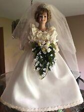 Danbury Mint Princess Diana porcelain/Wedding  Dress doll