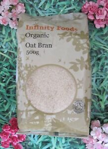 INFINITY FOODS *Certified Organic* Oat Bran 500g Fibre/Detox/Diet/Weight Loss
