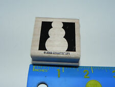 Stampin Up Rubber Stamp - Snowman Square (Reverse Print)