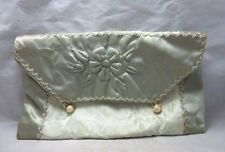 Vintage 1940's satin pouch for ladie's wear. Storage or travel