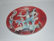 Metropolitan Opera display plate by Chagall's poster Opening Night '66 Roden