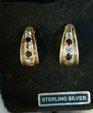Qvc Sterling silver genuine sapphire and blue topaz earring