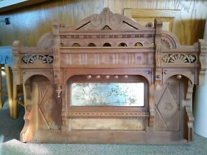 Victorian Antique Carved Fireplace Mantle