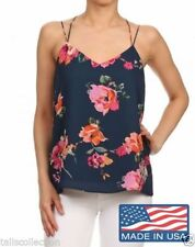 Women's Floral Spaghetti Strap Sleeve Tops & Blouses